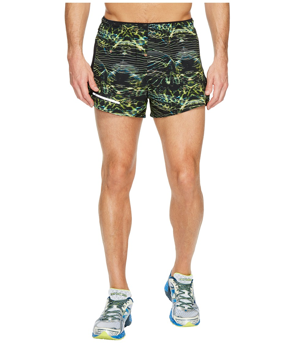 New Balance Impact 3 Split Shorts Print (Black Print) Men