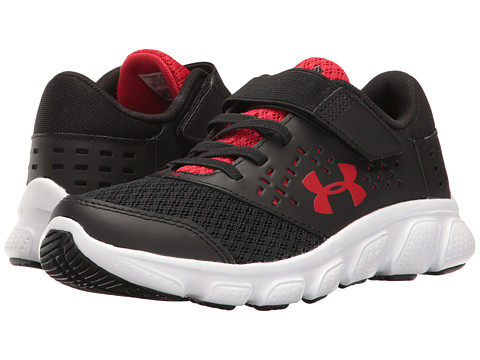 Under Armour Kids UA Rave Run AC (Little Kid) - Black/White/Red