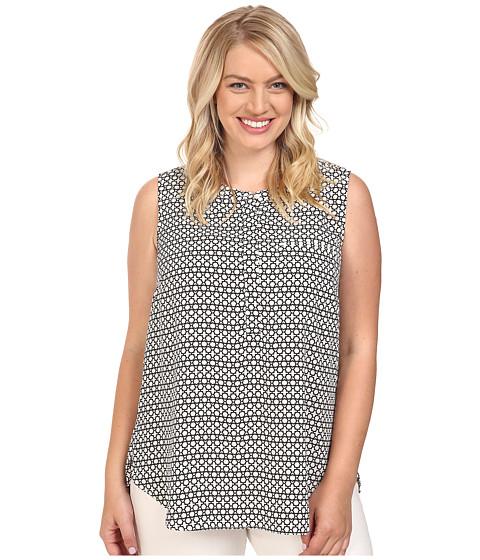 NYDJ Plus Size Plus Size Key Item Sleeveless Sleeve Pleat Back Blouse