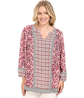 NYDJ Plus Size - Plus Size Pattern Mixing Blouse