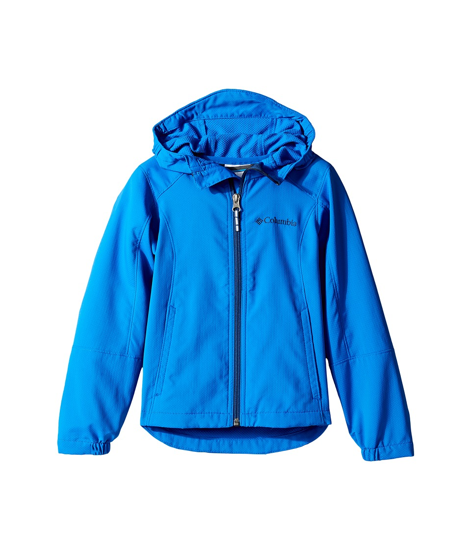 Columbia Kids SplashFlash Hooded Softshell Jacket (Little Kids/Big Kids) (Super Blue/Carbon) Boy