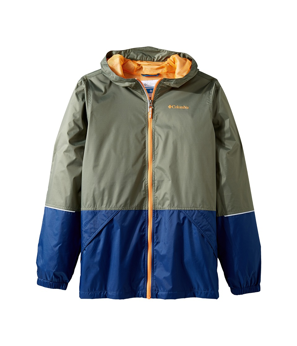 Columbia Kids Hot on the Trail Rain Jacket (Little Kids/Big Kids) (Cypress/Carbon/Koi) Boy