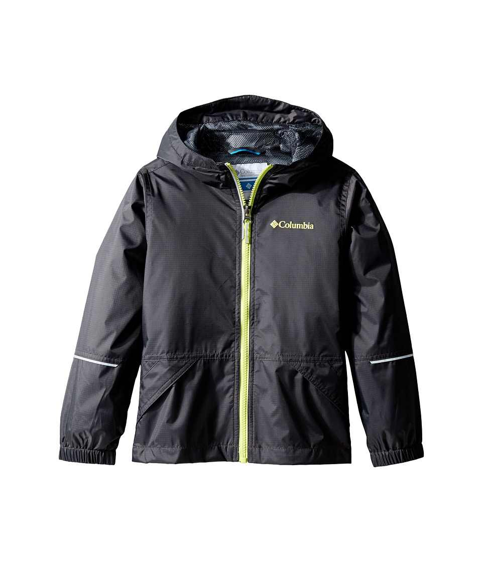 Columbia Kids Hot on the Trail Rain Jacket (Little Kids/Big Kids) (Shark/Black Camo/Voltage) Boy