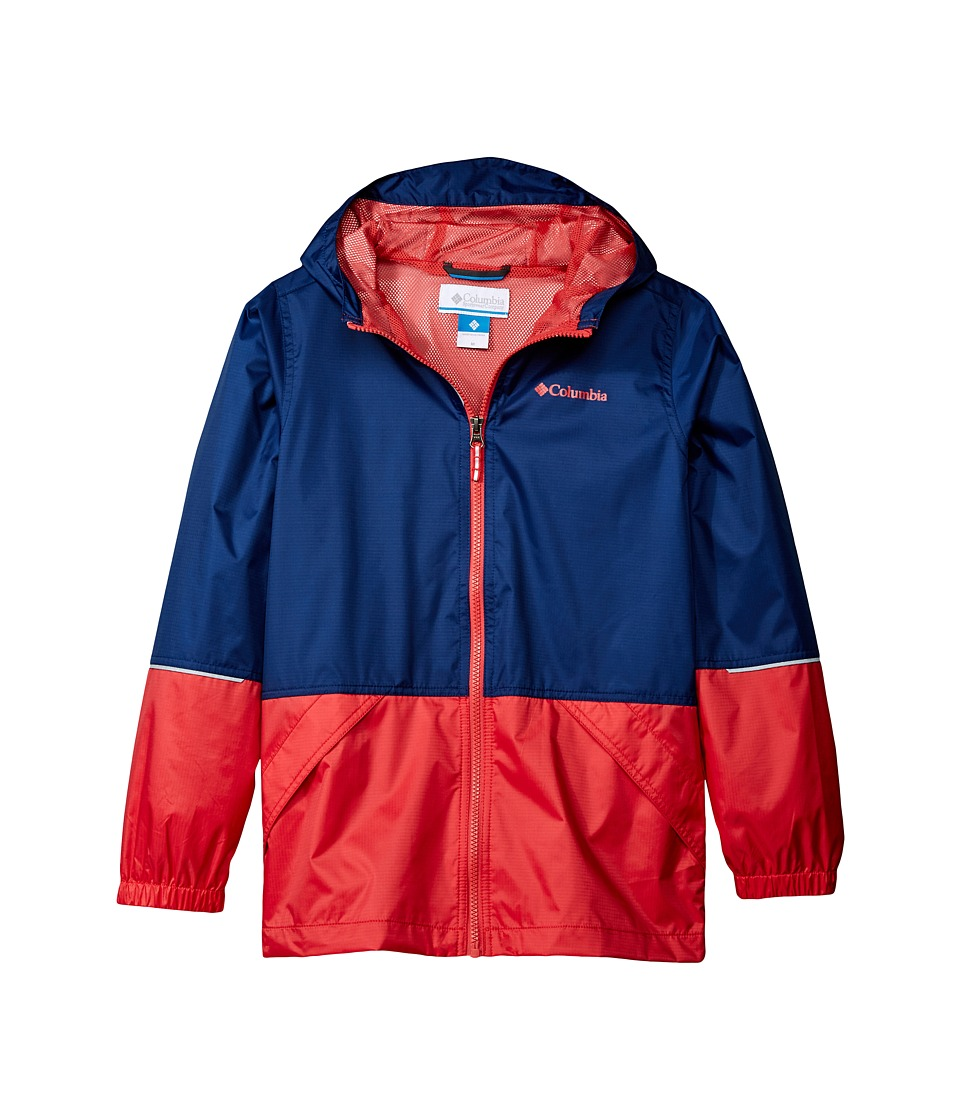Columbia Kids Hot on the Trail Rain Jacket (Little Kids/Big Kids) (Carbon/Sunset Red) Boy