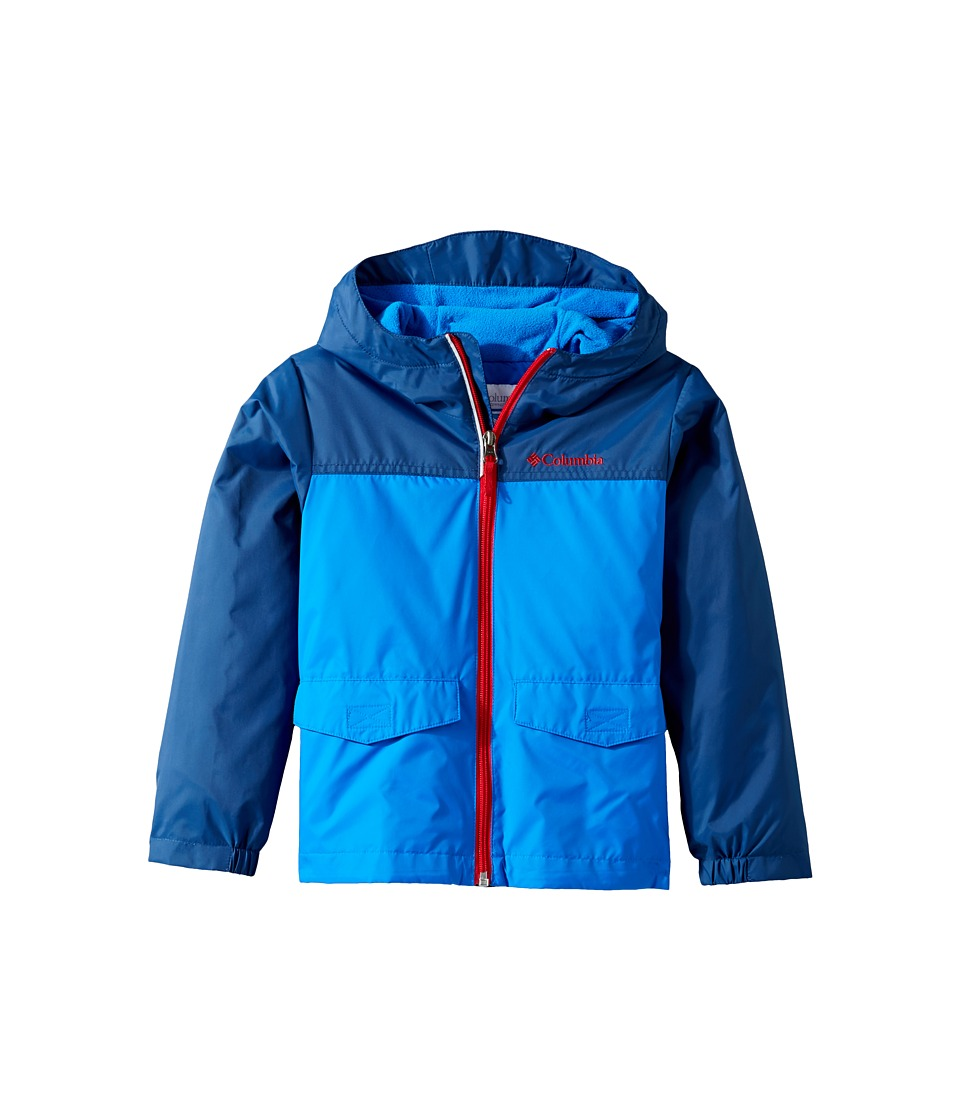 Columbia Kids Rain-Zilla Jacket (Little Kids/Big Kids) (Super Blue/Carbon/Mountain Red) Boy