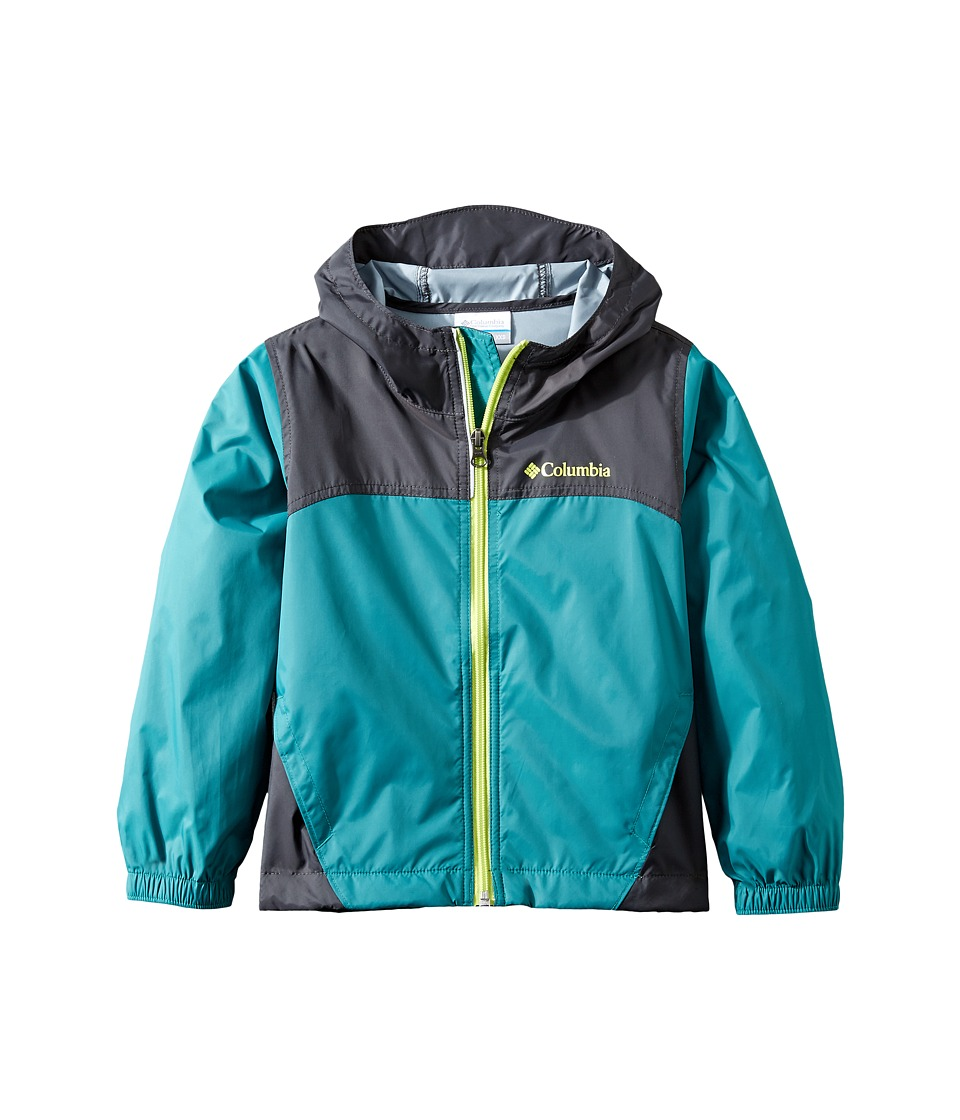 Columbia Kids Glennaker Rain Jacket (Little Kids/Big Kids) (Waterfall/Shark/Voltage) Boy