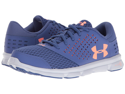Under Armour Kids UA Micro Rave Run (Big Kid) - Deep Periwinkle/White/London Orange