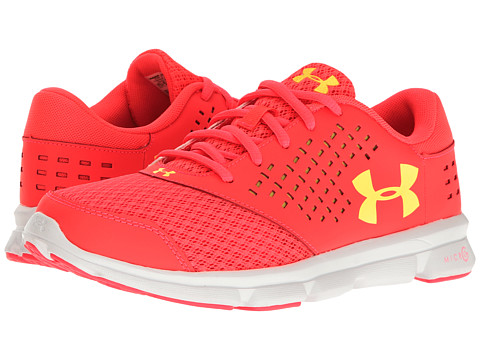 Under Armour Kids UA Micro Rave Run (Big Kid) - Sirens Coral/White/Tokyo Lemon