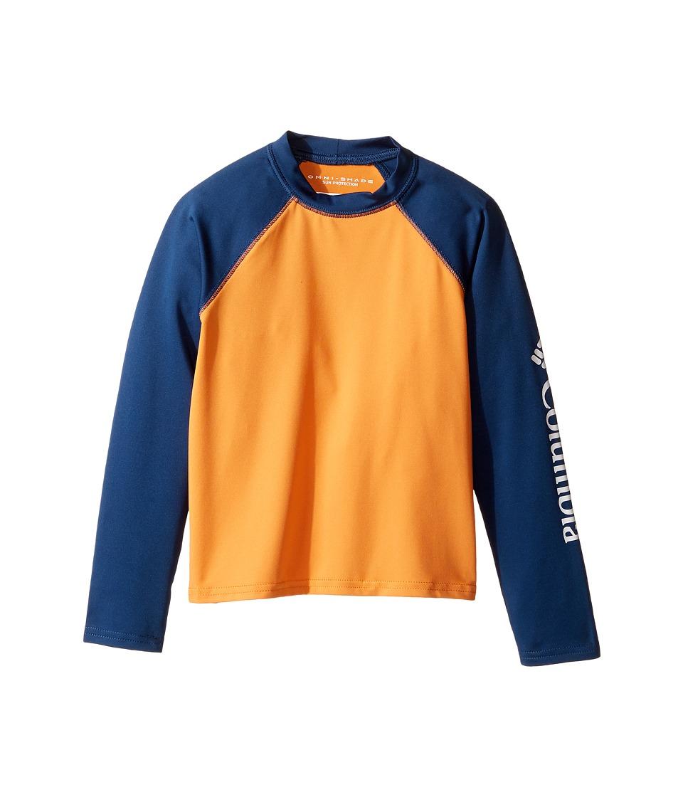Columbia Kids Mini Breakertm Long Sleeve Rashguard (Little Kids/Big Kids) (Koi/Carbon) Boy