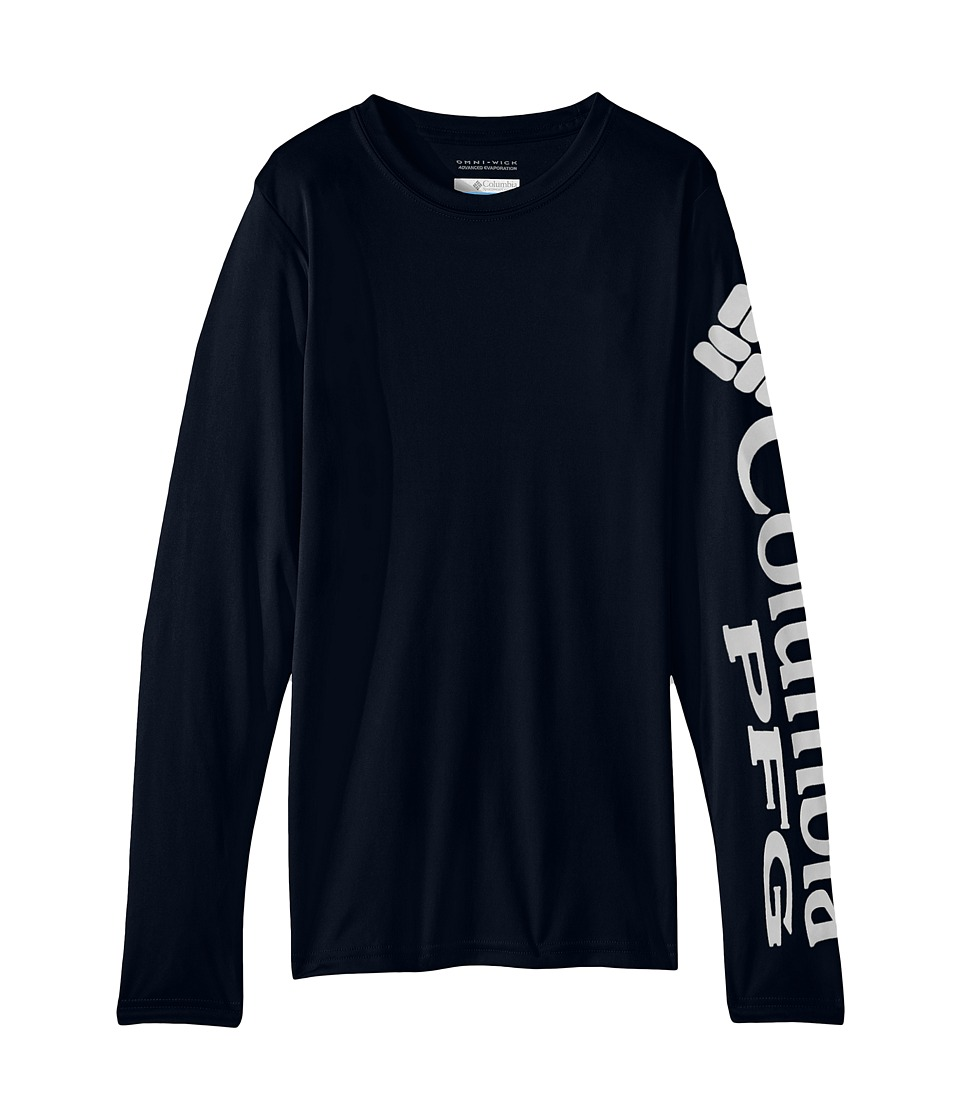Columbia Kids - Terminal Tackletm L/S Tee (Little Kids/Big Kids) (Collegiate Navy/White) Boys Long Sleeve Pullover