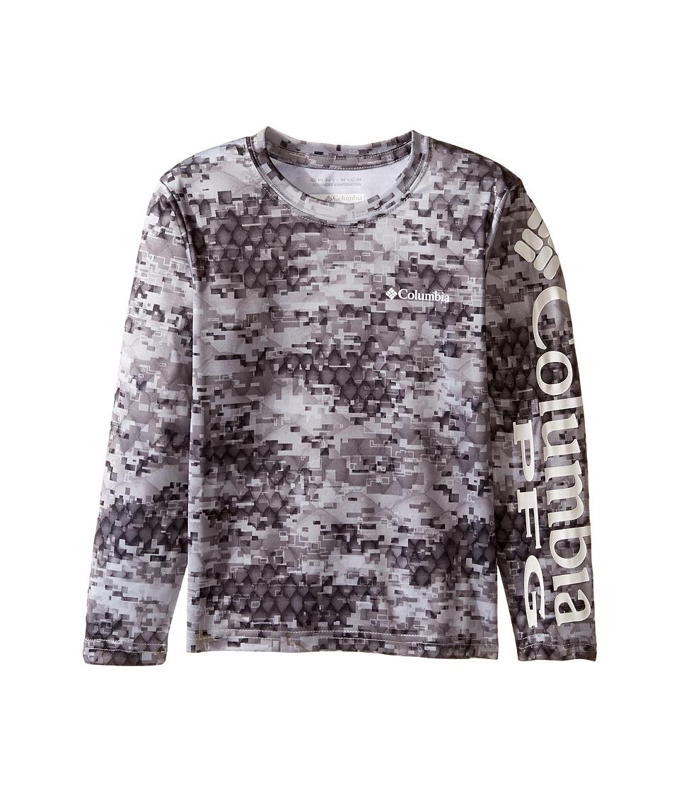Columbia Kids - Super Terminal Tackle Long Sleeve Shirt (Little Kids/Big Kids) (Black Camo) Boys T Shirt