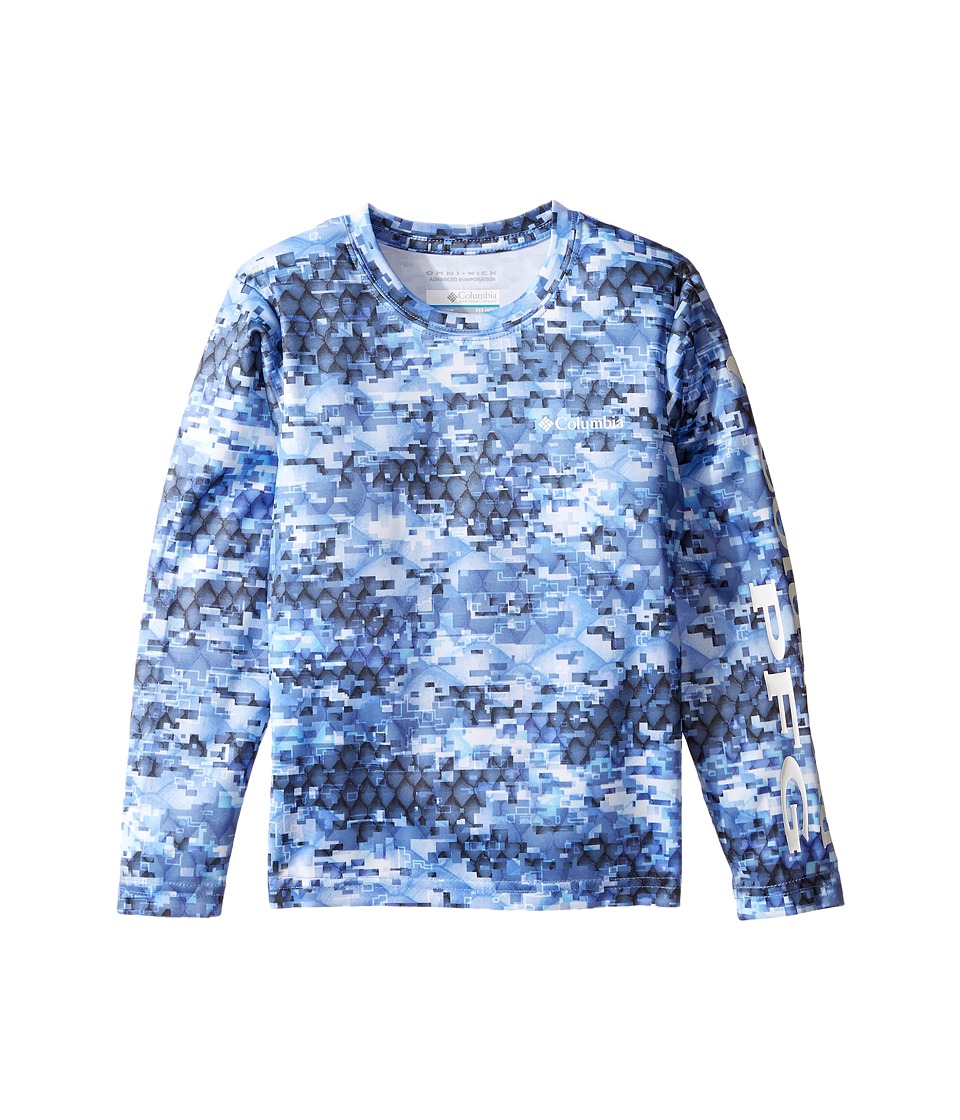 Columbia Kids Super Terminal Tackle Long Sleeve Shirt (Little Kids/Big Kids) (Collegiate Navy Camo) Boy