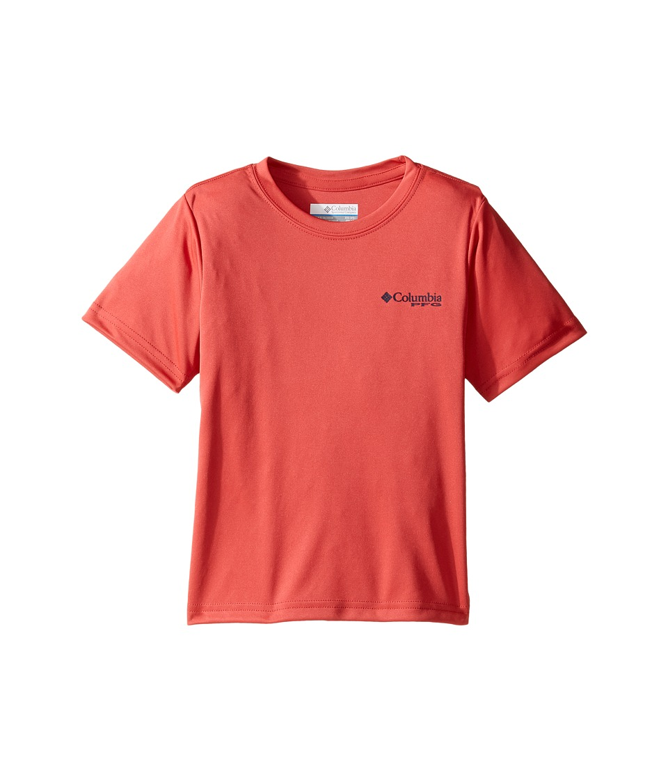 Columbia Kids PFG Triangle Digicamo Tee (Little Kids/Big Kids) (Sunset Red) Boy