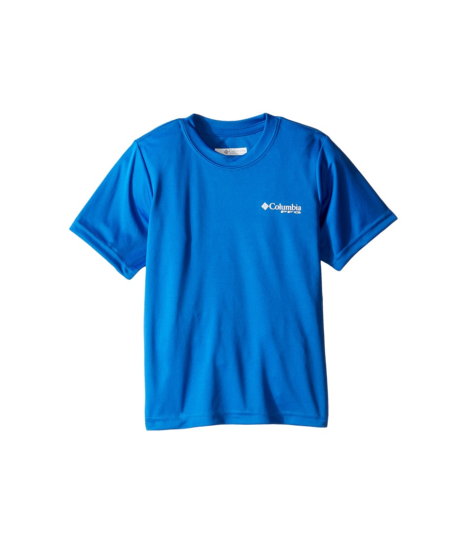 Columbia Kids PFG Triangle Digicamo Tee (Little Kids/Big Kids) (Super Blue) Boy
