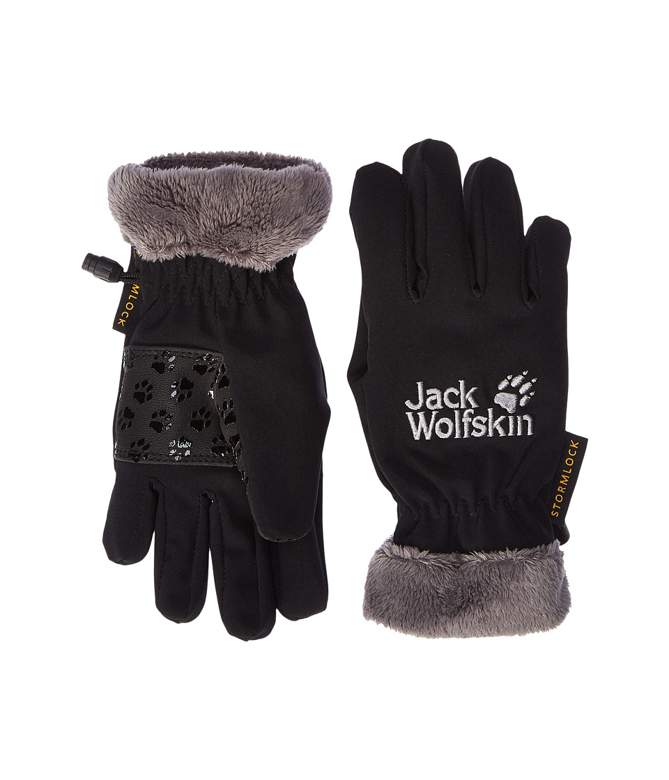 Jack Wolfskin Softshell Highloft Gloves (Little Kids/Big Kids) (Black) Extreme Cold Weather Gloves