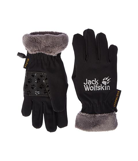 Jack Wolfskin Softshell Highloft Gloves (Little Kids/Big Kids) - Black