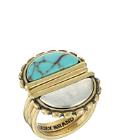 Lucky Brand - Turquoise and Two-Tone Stack Ring