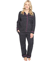 DKNY - Plus Size Long Sleeve Top & Pants PJ Set