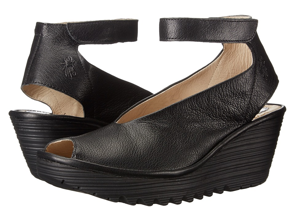 FLY LONDON - Yala (Black Mousse) Womens Shoes