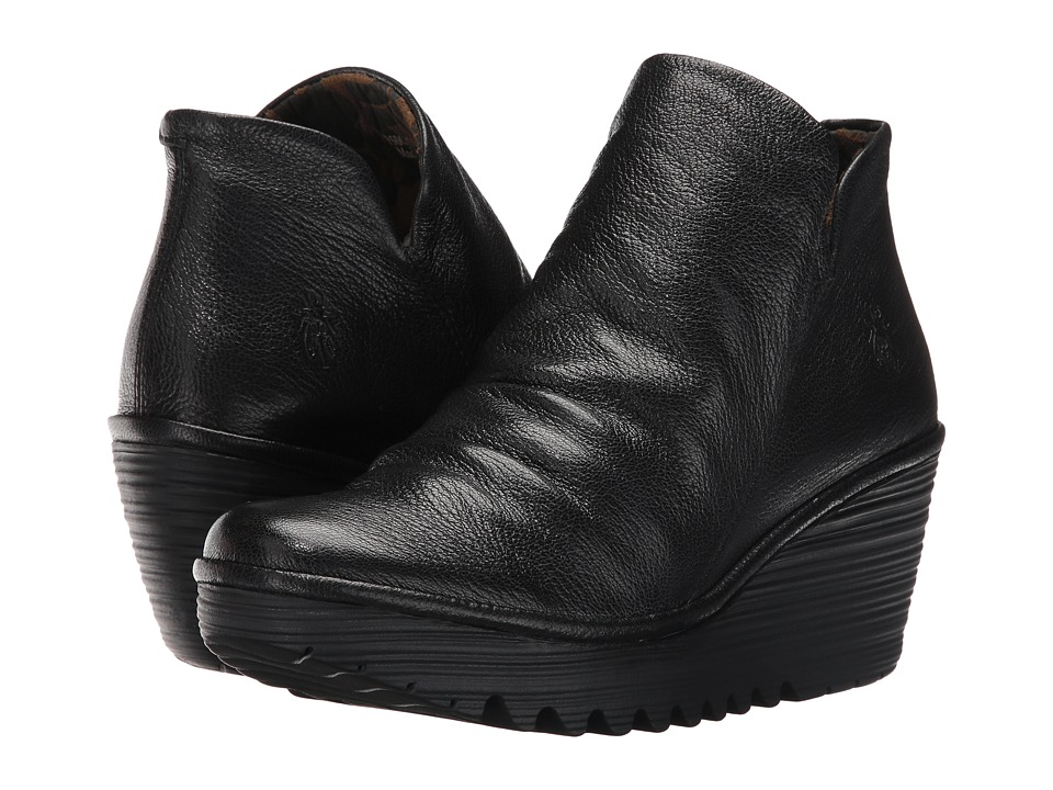FLY LONDON - Yip (Black Mousse) Womens Shoes
