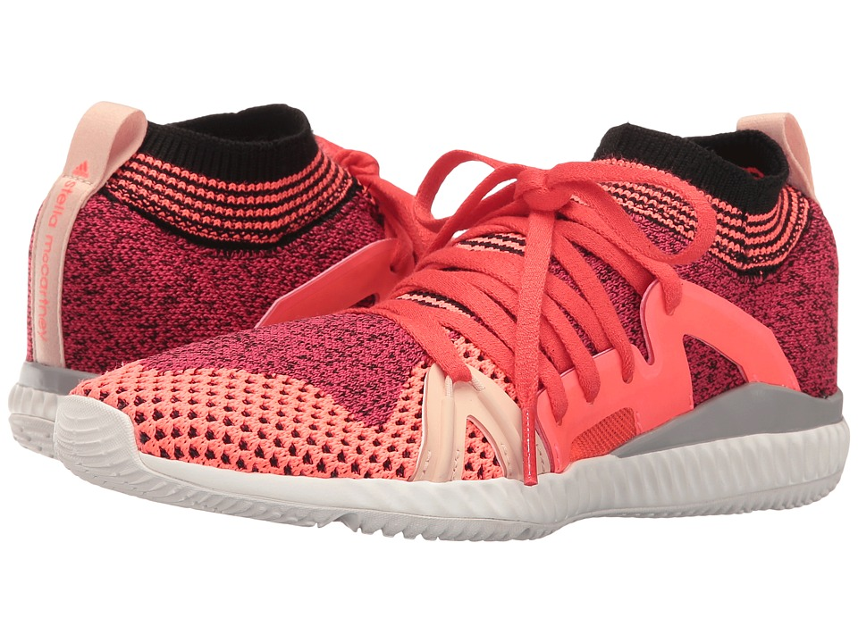 Image of adidas by Stella McCartney - Edge Trainer (Pink Passion S04/Turbo F11/Red) Women's Lace up casual Shoes