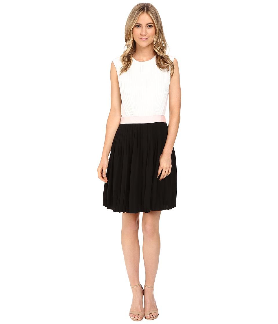 Ted Baker Glina Pleated Full Skirt Dress (Black) Women