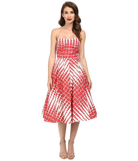 Unique Vintage Darcy Printed Swing Dress - 6pm.com