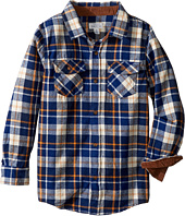 Pumpkin Patch Kids - Deep Blue Check Shirt (Little Kids/Big Kids)