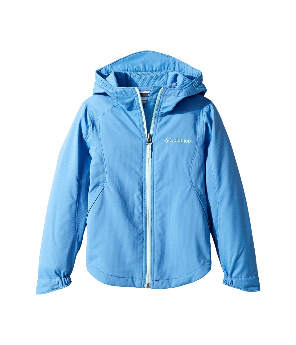 Columbia Kids Splash Flash II Hooded Softshell Jacket (Little Kids/Big Kids) (Medieval/Sea Ice) Girl