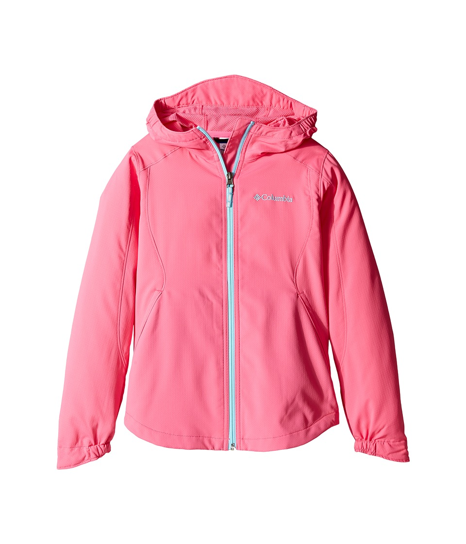 Columbia Kids Splash Flash II Hooded Softshell Jacket (Little Kids/Big Kids) (Wild Geranium/Clear Blue) Girl