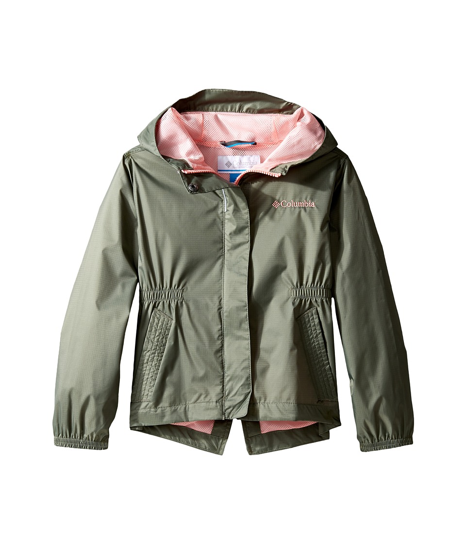 Columbia Kids Explore More Rain Jacket (Little Kids/Big Kids) (Cypress/Sorbet) Girl