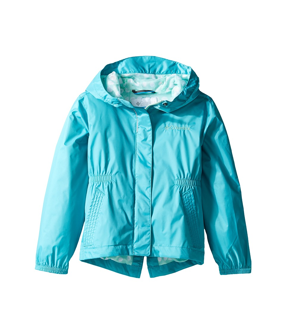 Columbia Kids Explore More Rain Jacket (Little Kids/Big Kids) (Miami/Sea Ice Polka Dot) Girl