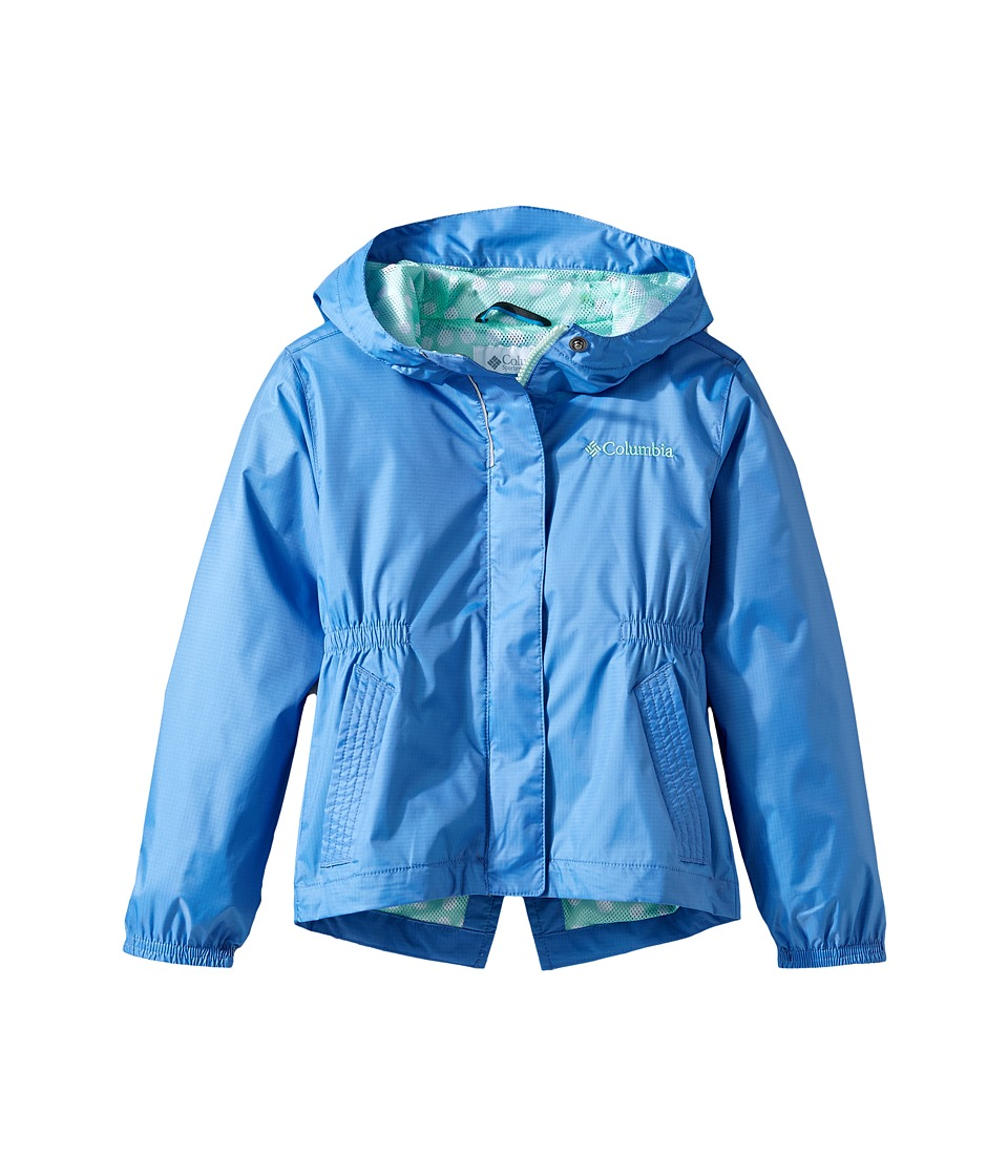 Columbia Kids Explore More Rain Jacket (Little Kids/Big Kids) (Medieval/Sea Ice Polka Dot) Girl