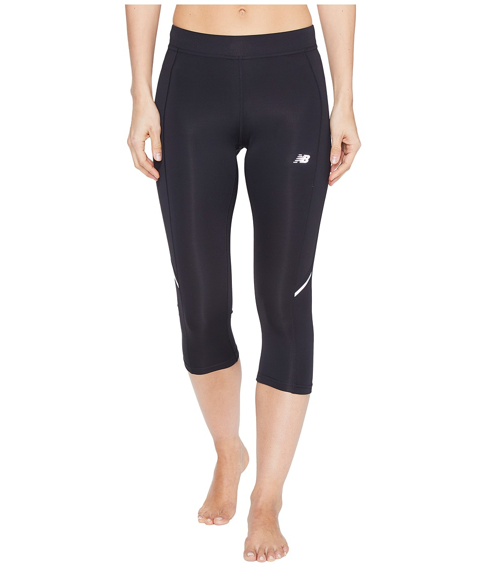 New Balance Accelerate Capris (Black) Women