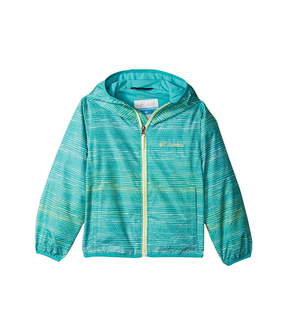 Columbia Kids Pixel Grabbertm II Wind Jacket (Little Kids/Big Kids) (Miami Dotty Dyes Stripe/Miami/Spring Yellow) Girl