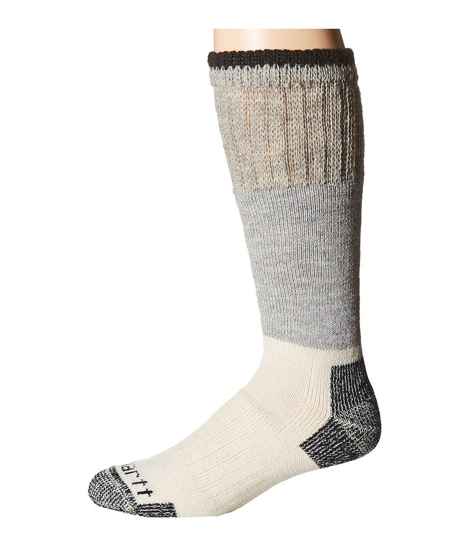 Carhartt Artic Wool Boot Crew Socks 1-Pair Pack (Heather Black) Men