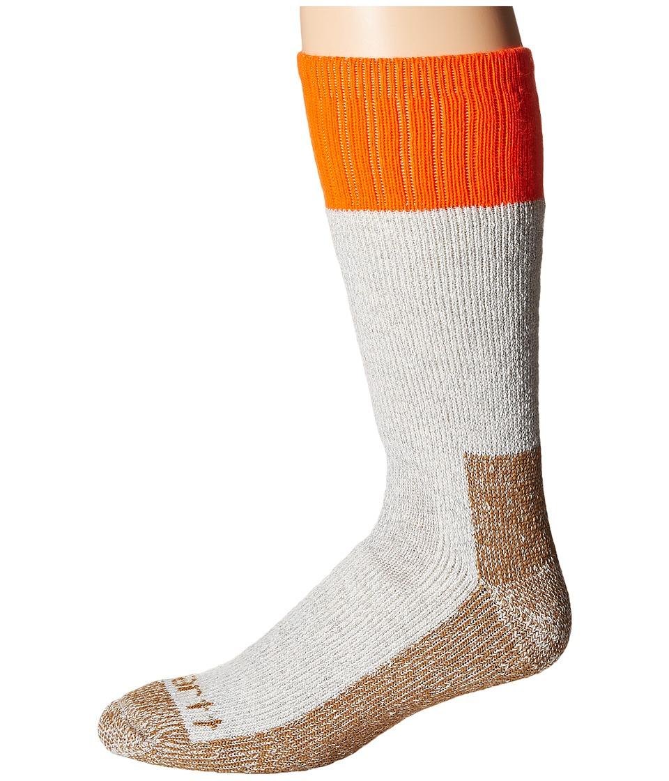 Carhartt - Cold Weather Boot Socks 1-Pair Pack (Orange) Mens Crew Cut Socks Shoes