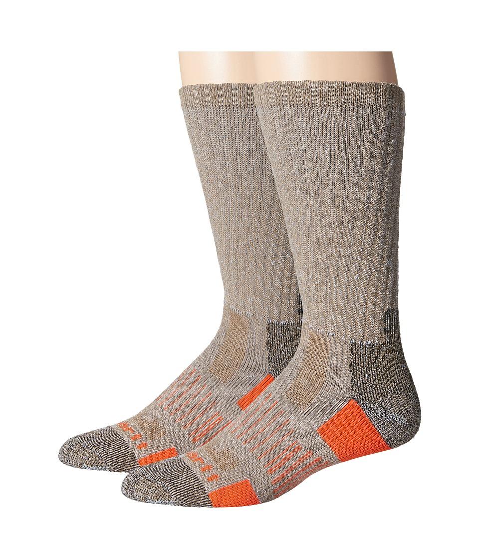 Carhartt All Terrain Boot Socks 2-Pair Pack (Brown) Men