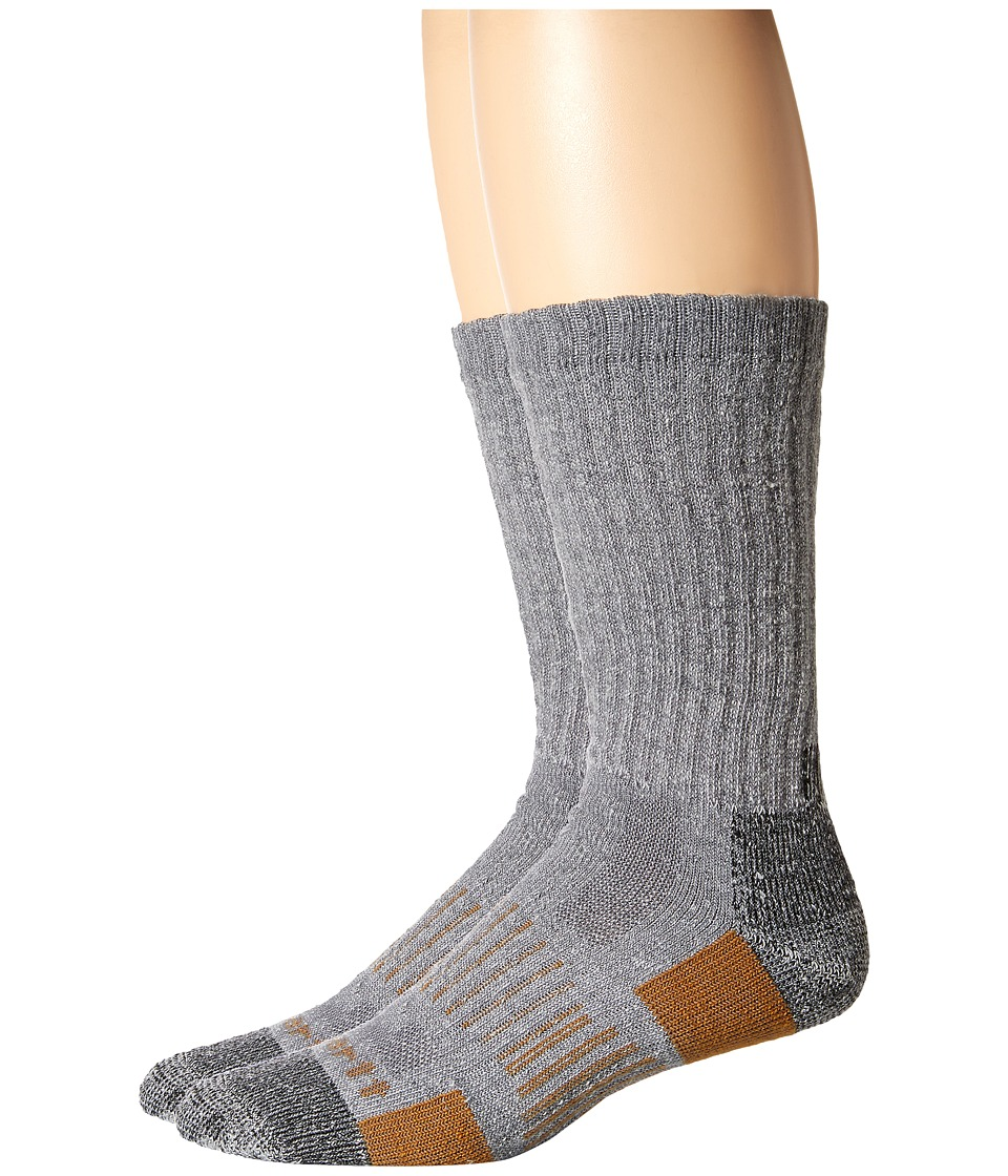 Carhartt All Terrain Boot Socks 2-Pair Pack (Gray) Men