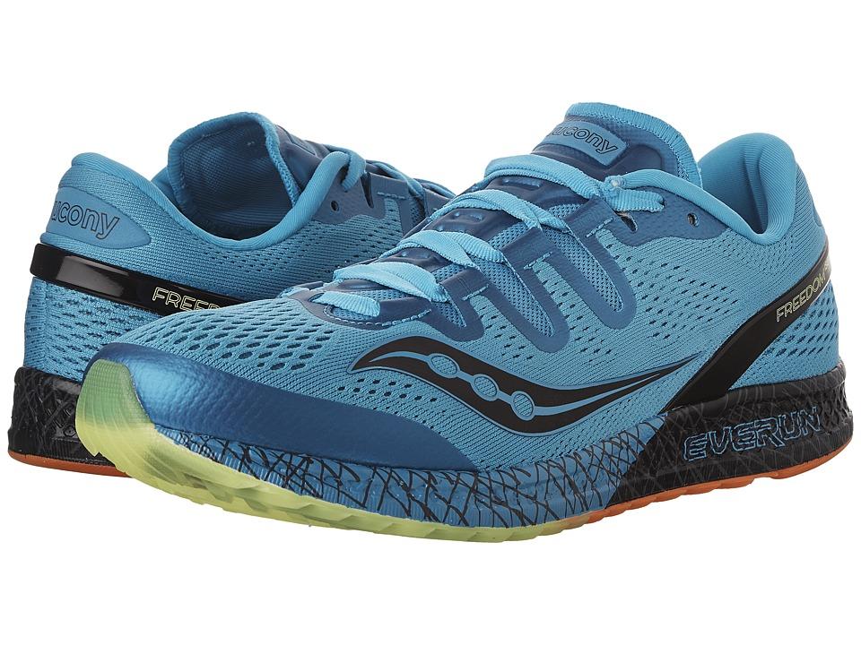 Saucony Freedom ISO (Blue/Black/Citron) Men's Shoes