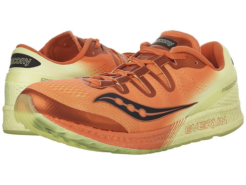 Saucony Freedom ISO (Orange/Citron) Men's Shoes