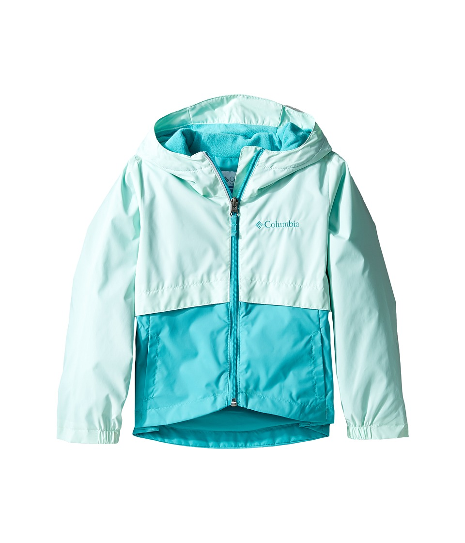Columbia Kids Rain-Zilla Jacket (Little Kids/Big Kids) (Sea Ice/Miami) Girl