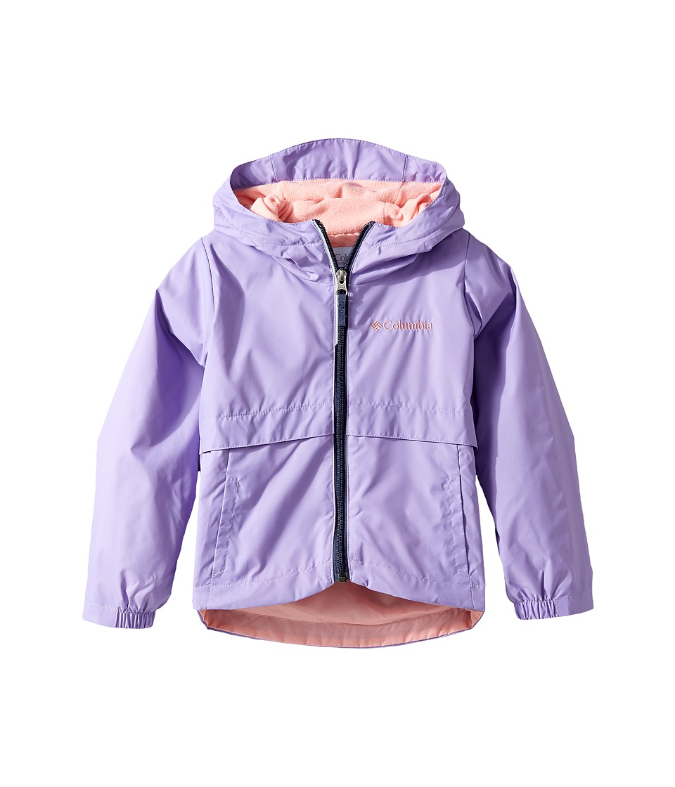 Columbia Kids Rain-Zilla Jacket (Little Kids/Big Kids) (Paisley Purple/Sorbet/Nocturnal) Girl