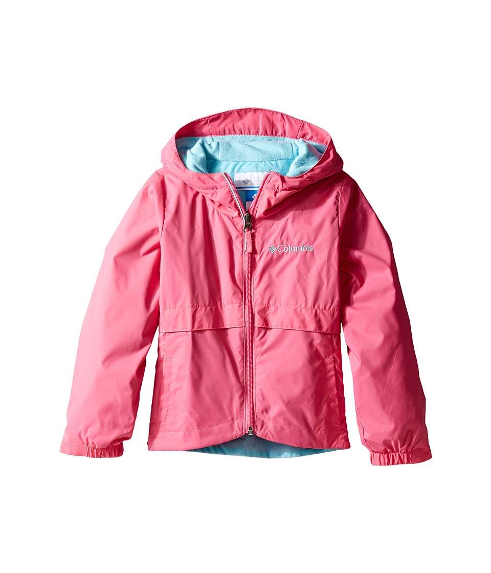 Columbia Kids Rain-Zilla Jacket (Little Kids/Big Kids) (Wild Geranium/Clear Blue) Girl