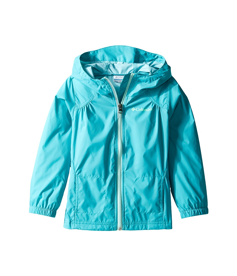 Columbia Kids Switchback Rain Jacket (Little Kids/Big Kids) (Miami/Sea Ice) Girl