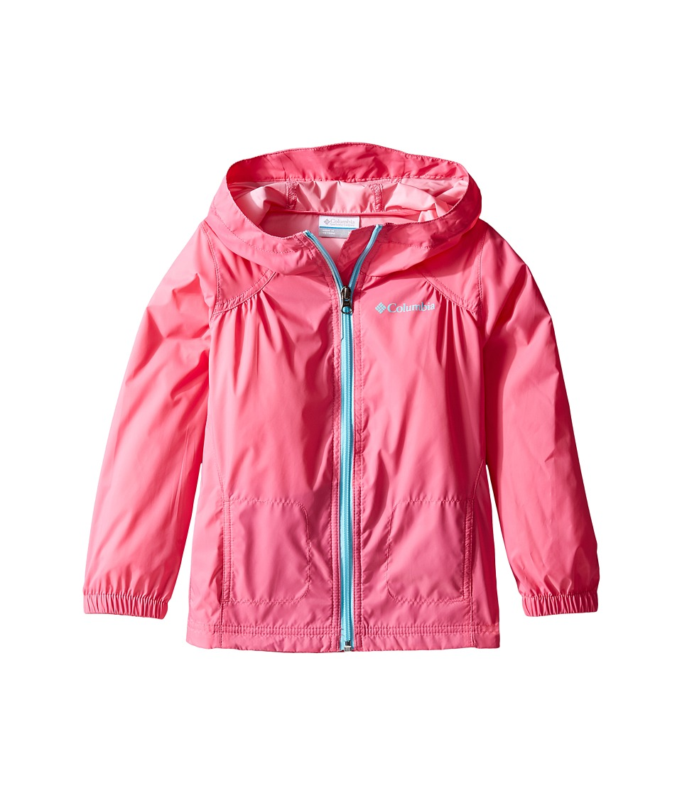 Columbia Kids Switchback Rain Jacket (Little Kids/Big Kids) (Wild Geranium/Clear Blue) Girl