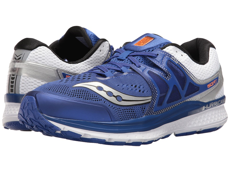 Saucony Hurricane ISO 3 (Blue/White/Silver) Men's Shoes