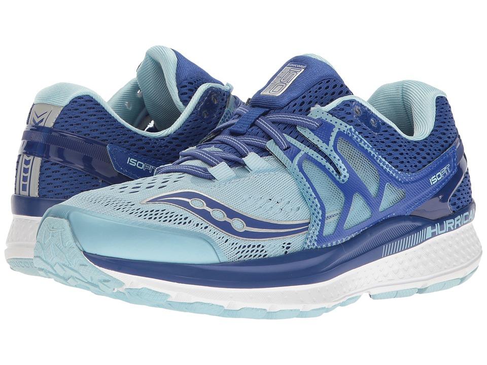 Saucony Hurricane ISO 3 (Blue/Light Blue) Women's Shoes