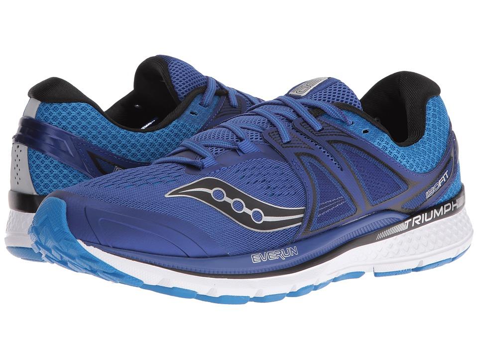 Saucony - Triumph ISO 3 (Blue/Silver) Men's Shoes