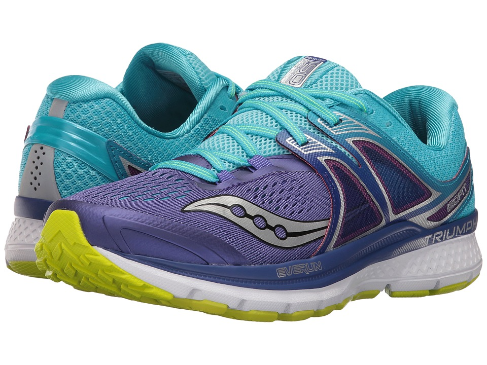 Saucony Triumph ISO 3 (Purple/Blue/Citron) Women's Shoes